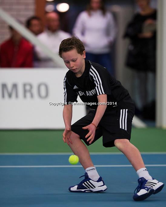 19-01-14,Netherlands, Rotterdam,  TC Victoria, Wildcard Tournament, ,   Final, Ballboy<br /> Photo: Henk Koster