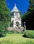 Germany, Bavaria, Upper Bavaria, Lake Starnberg, Berg: memorial, Votiv Chapel in honor of King Ludwig II. of Bavaria