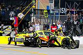 #19: Brandon Jones, Joe Gibbs Racing, Toyota Supra Menards pit stop
