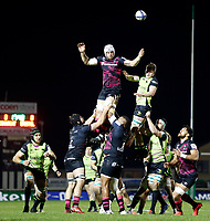 20th December 2020; The Sportsground, Galway, Connacht, Ireland; European Champions Cup Rugby, Connacht versus Bristol Bears; Dave Attwood (Bristol Bears) knocks the ball down from a line out