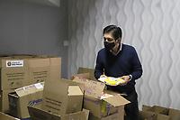 SÃO PAULO, SP, 26.05.2021 - POLITICA-SP - Ricardo Nunes, Prefeito de São Paulo, acompanha a doação de cestas básicas da Associação dos Notários e Registradores do Estado de São Paulo – ANOREG-SP para o Programa Cidade Solidária, na sede da Cruz Vermelha de São Paulo, nesta quarta-feira, 26. (Foto Charles Sholl/Brazil Photo Press)