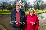 Mary and Ted Shanahan enjoying a stroll in the Tralee town park on Sunday.