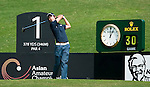 SHENZHEN, CHINA - NOVEMBER 01:  Chang-Won Han of South Korea tees off on the 1st hole during the final round of the Asian Amateur Championship at the Mission Hills Golf Club on November 1, 2009 in Shenzhen, Guangdong, China.  (Photo by Victor Fraile/The Power of Sport Images) *** Local Caption *** Chang-Won Han