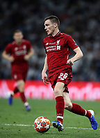 Liverpopol's Andy Robertson in action during the UEFA Champions League final football match between Tottenham Hotspur and Liverpool at Madrid's Wanda Metropolitano Stadium, Spain, June 1, 2019.<br /> UPDATE IMAGES PRESS/Isabella Bonotto