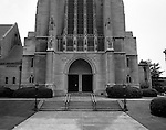 East Liberty PA: View of the main entrance of the East Liberty Presbyterian Church.<br />