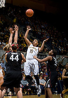 Brittany Boyd of California shoots the ball during the game against Stanford at Haas Pavilion in Berkeley, California on January 8th, 2013.  Stanford defeated California, 62-53.