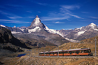 Gornergrat train at the Matterhorn, Switzerland.