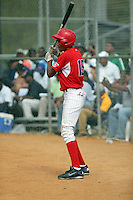 Melvin Mendez participates in the Dominican Prospect League 2014 Louisville Slugger Tournament at the New York Yankees academy in Boca Chica, Dominican Republic on January 20-21, 2014 (Bill Mitchell)