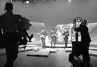 Beatles on Ed Sullivan Show, February 1964, New York. Photographer John G. Zimmerman
