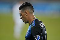 SAN JOSE, CA - NOVEMBER 4: Cristian Espinoza #10 of the San Jose Earthquakes during a game between Los Angeles FC and San Jose Earthquakes at Earthquakes Stadium on November 4, 2020 in San Jose, California.