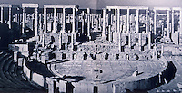 Italy: Rome--Leptis Magna, Theater, Remains. Aubrey Menen, CITIES IN THE SAND.  Ref. only.