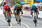 Ion Izagirre Insausti (ESP) Astana-Premier Tech outsprints Pello Bilbao Lopez De Armentia (ESP) Bahrain Victorious to win Stage 4 of the Itzulia Basque Country 2021, running 189.2km from Vitoria-Gasteiz to Hondarribia, Spain. 8th April 2021.  <br /> Picture: Luis Angel Gomez/Photogomezsport | Cyclefile<br /> <br /> All photos usage must carry mandatory copyright credit (© Cyclefile | Luis Angel Gomez/Photogomezsport)