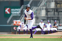 Blake Rutherford (9) of the Winston-Salem Dash takes off for second base during the game against the Buies Creek Astros at BB&T Ballpark on July 15, 2018 in Winston-Salem, North Carolina. The Dash defeated the Astros 6-4. (Brian Westerholt/Four Seam Images)