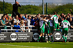 North Ferriby players and fans celebrating the equalising goal scored by Wayne Brooksby. Vanarama National League North, Promotion Final, North Ferriby United v AFC Fylde, 14th May 2016.