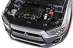 Car Stock 2015 Mitsubishi ASX Diamond Edition 5 Door SUV Engine  high angle detail view