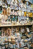 Ceramics, Nabeul, Tunisia.  Souvenir Shop, Pottery and Ceramics.