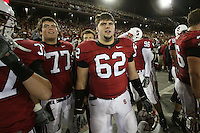 1 December 2007: Tyler Mabry and Tim Mattran during Stanford's 20-13 win over California in the 110th Big Game at Stanford Stadium in Stanford, CA. Stanford leads the rivalry series over California, 55-44-11.