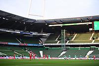 18th May 2020, WESERSTADION, Bremen, Germany; Bundesliga football, Werder Bremen versus Bayer Leverkusen; The game starts as Leverkusen kick-off