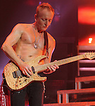 Phil Collen, guitarist for the classic hard rock band Def Leppard, performs at the Susquehanna Bank Center in Camden, NJ June 26, 2011. Copyright EML/Rockinexposures.com.