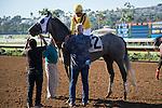 DEL MAR,CA-AUGUST 17: Tara's Tango,ridden by Martin Garcia,wins the Rancho Bernardo Handicap at Del Mar Race Track on August 17,2016 in Del Mar,California (Photo by Kaz Ishida/Eclipse Sportswire/Getty Images)