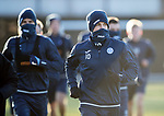 St Johnstone Training…08.12.17<br />David Wotherspoon well wrapped up against the freezing wind at McDiarmid Park today during training ahead of tomorrow's game at Hamilton<br />Picture by Graeme Hart.<br />Copyright Perthshire Picture Agency<br />Tel: 01738 623350  Mobile: 07990 594431