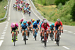 Many attacks to form the breakaway during Stage 7 of the 2018 Criterium du Dauphine 2018 running 136km from Moutiers to Saint Gervais Mont Blanc, France. 10th June 2018.<br /> Picture: ASO/Alex Broadway | Cyclefile<br /> <br /> <br /> All photos usage must carry mandatory copyright credit (© Cyclefile | ASO/Alex Broadway)