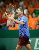 22-9-06,Leiden, Daviscup Netherlands-Tsjech Republic, Jiri Novak Defeats Raemon Sluiter