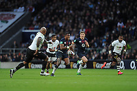 Semesa Rokoduguni of England finds space in midfield during the Old Mutual Wealth Series match between England and Fiji at Twickenham Stadium on Saturday 19th November 2016 (Photo by Rob Munro)