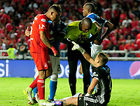 CALI -COLOMBIA, 07-12-2017: Nikolas Vikonis arquero de Millonarios en acción durante el partido entre América Cali y Millonarios por la semifinal ida de la Liga Águila II 2017 jugado en el estadio Pascual Guerrero de la ciudad de Cali. / Nikolas Vikonis goalkeeper of Millonarios in action during the match between America Cali and Millonarios for the first leg semifinal of the Aguila League II 2017 played at Pascual Guerrero stadium in Cali. Photo: VizzorImage / Nelson Rios / Cont