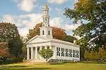 First Congregational Church, Madison, CT. in autumn.