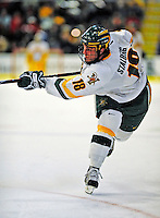 3 January 2009: University of Vermont Catamount forward Viktor Stalberg, a Junior from Gothenburg, Sweden, in action against the St. Lawrence Saints during the championship game of the Catamount Cup Ice Hockey Tournament at Gutterson Fieldhouse in Burlington, Vermont. The Cats defeated the Saints 4-0 and won the tournament for the second time since its inception in 2005...Mandatory Photo Credit: Ed Wolfstein Photo