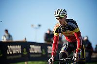 Belgian Champion Klaas Vantornout (BEL/Sunweb-Napoleon Games) during course recon<br /> <br /> Elite Men's race<br /> bpost bank trofee<br /> GP Mario De Clercq Ronse 2015