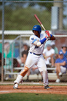 Noah Naylor (12) while playing for Ontario Blue Jays based out of Toronto, Ontario Canada during the WWBA World Championship at the Roger Dean Complex on October 21, 2017 in Jupiter, Florida.  Noah Naylor is a catcher / infielder from Mississauga, Ontario who attends St. Joan of Arc Catholic Secondary.  (Mike Janes/Four Seam Images)
