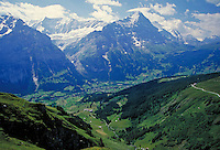 The Swiss Alps, Switzerland. alpine landscape, mountains, geography. Switzerland.