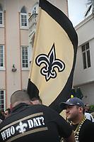 Fans der New Orleans Saints auf der NFL Fanmeile am Ocean Drive in Miami Beach<br /> NFL Fan Jam, Miami Beach *** Local Caption *** Foto ist honorarpflichtig! zzgl. gesetzl. MwSt. Auf Anfrage in hoeherer Qualitaet/Aufloesung. Belegexemplar an: Marc Schueler, Alte Weinstrasse 1, 61352 Bad Homburg, Tel. +49 (0) 151 11 65 49 88, www.gameday-mediaservices.de. Email: marc.schueler@gameday-mediaservices.de, Bankverbindung: Volksbank Bergstrasse, Kto.: 52137306, BLZ: 50890000