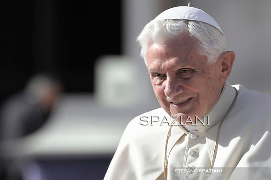 Pope Benedict XVI during his weekly general audience in St. Peter square at the Vatican, Wednesday. 9 november, 2011