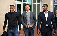 Pictured L-R: Luciano Narsingh, Jack Cork and Leroy Fer Wednesday 18 May 2017<br />Re: Swansea City FC, Player of the Year Awards at the Liberty Stadium, Wales, UK.
