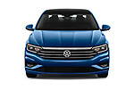 Car photography straight front view of a 2019 Volkswagen Jetta SEL Premium 4 Door Sedan