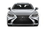 Car photography straight front view of a 2019 Lexus LS 500h 4 Door Sedan