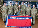 Miss Scotland, Nicole Treacy, helps raise awareness of the TA and it's vital role as she meets the officers from 124 Field Squadron, The Royal Engineers TA in Cumbernauld ?
