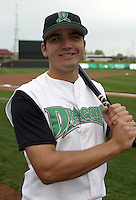 April 20, 2004:  First baseman Joey Votto of the Dayton Dragons, Midwest League (A) affiliate of the Cincinnati Reds, during a game at Fifth Third Field in Dayton, OH.  Photo by:  Mike Janes/Four Seam Images