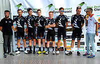 The New Zealand national team.The opening ceremony of the NZ Cycle Classic UCI Oceania Tour at Mitre 10 Mega in Masterton, New Zealand on Tuesday, 16 January 2018. Photo: Dave Lintott / lintottphoto.co.nz