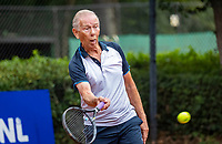 Hilversum, The Netherlands,  August 18, 2020,  Tulip Tennis Center, NKS, National Senior Championships, Men's single 80+   Jack Leonhart  (NED) <br /> Photo: www.tennisimages.com/Henk Koster