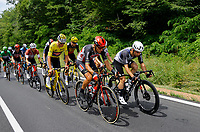 2nd July 2021; Le Creusot, France;  VAN DER POEL Mathieu (NED) of ALPECIN - FENIX, GILBERT Philippe (BEL) of LOTTO SOUDAL, VAN AERT Wout (BEL) of JUMBO-VISMA and CAMPENAERTS Victor (BEL) of TEAM QHUBEKA ASSOS during stage 7 of the 108th edition of the 2021 Tour de France cycling race, a stage of 249,1 kms between Vierzon and Le Creusot