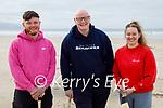 Daniel Kinsella, Patrick McElligott and Eimear McGrath enjoying a puck around on the beach in Banna on Saturday
