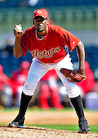4 March 2010: Houston Astros relief pitcher Sammy Gervacio on the mound during the Astros' Grapefruit League Opening Day game against a Washington Nationals' split squad at Osceola County Stadium in Kissimmee, Florida. The Astros defeated the Nationals 15-5 in Spring Training action. Mandatory Credit: Ed Wolfstein Photo