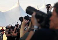With Full Force XVI 2009 in Roitzschjora bei Leipzig - Metal Heads aus ganz Europa kommen zur Metaller Tagung - im Bild: Fotopit im Bühnengraben . Foto: Norman Rembarz..