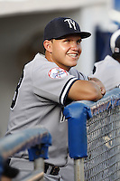 July 11, 2009:  Third Baseman Brandon Laird of the Tampa Yankees during a game at Dunedin Stadium in Dunedin, FL.  Tampa is the Florida State League High-A affiliate of the New York Yankees.  Photo By Mike Janes/Four Seam Images