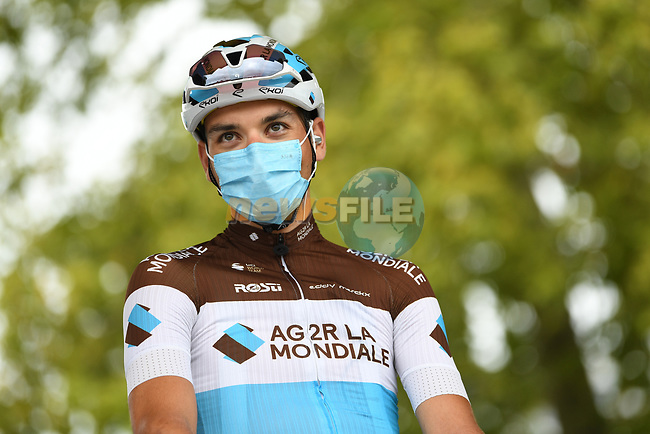 Nans Peters (FRA) AG2R La Mondial at sign on before the start of Stage 9 of Tour de France 2020, running 153km from Pau to Laruns, France. 6th September 2020. <br /> Picture: ASO/Alex Broadway | Cyclefile<br /> All photos usage must carry mandatory copyright credit (© Cyclefile | ASO/Alex Broadway)