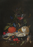 Full title: Still Life<br /> Artist: Jan Davidsz. de Heem<br /> Date made: about 1664-5<br /> Source: http://www.nationalgalleryimages.co.uk/<br /> Contact: picture.library@nationalgallery.co.uk<br /> <br /> Copyright © The National Gallery, London